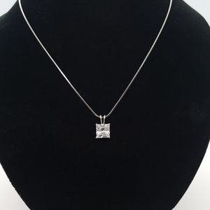 Vintage VCLM Square CZ Choker Necklace